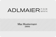 Kundenkarte von Adlmaier for man